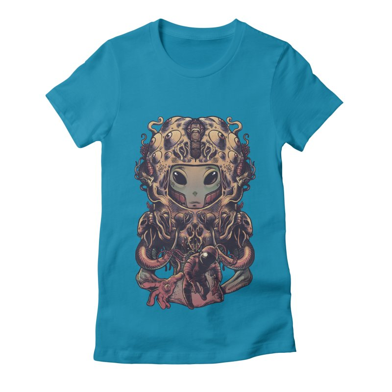 Alien Women's Fitted T-Shirt by tavosantiago Shop