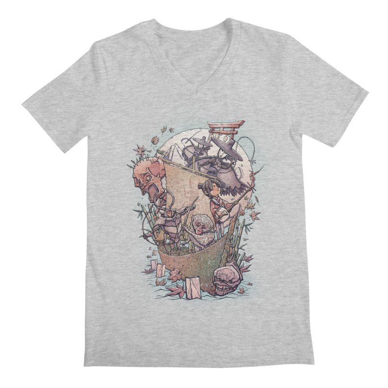 Kubo's Legend Men's V-Neck by Taylor Rose Makes Art