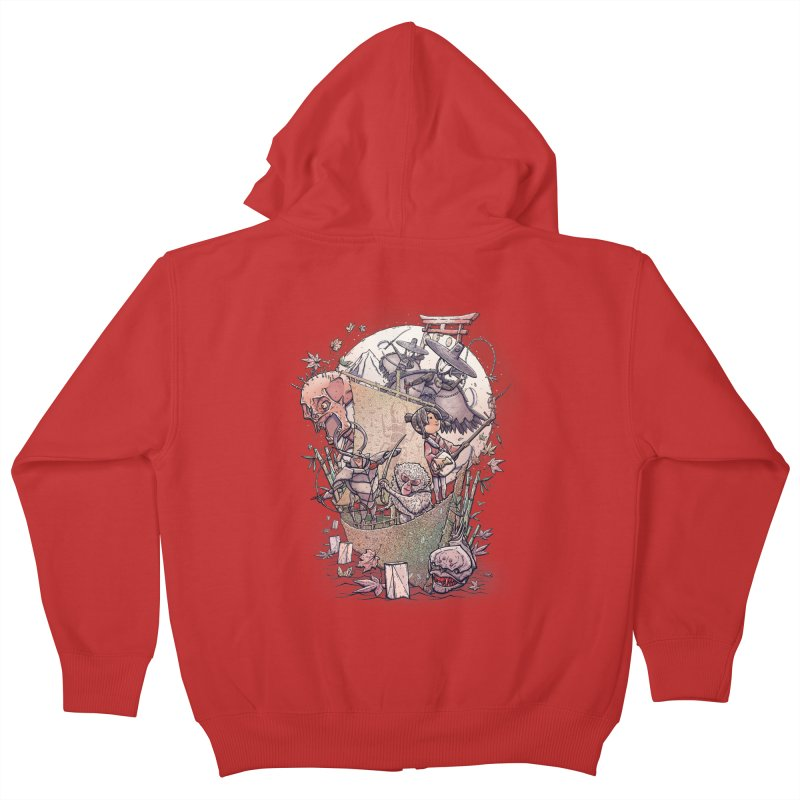Kubo's Legend Kids Zip-Up Hoody by Taylor Rose Makes Art