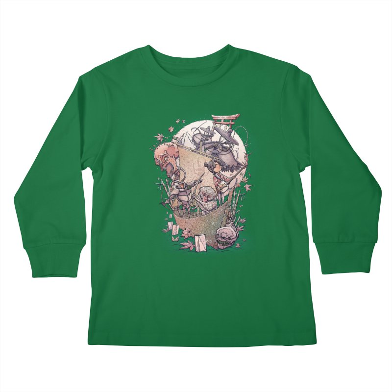 Kubo's Legend Kids Longsleeve T-Shirt by Taylor Rose Makes Art