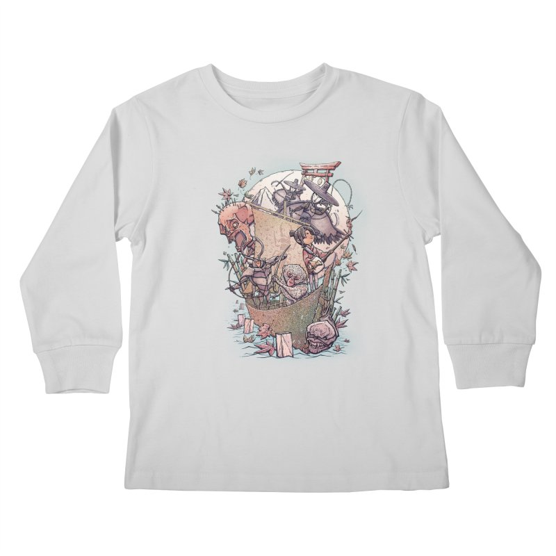 Kubo's Legend Kids Longsleeve T-Shirt by Taylor Rose Makes Art