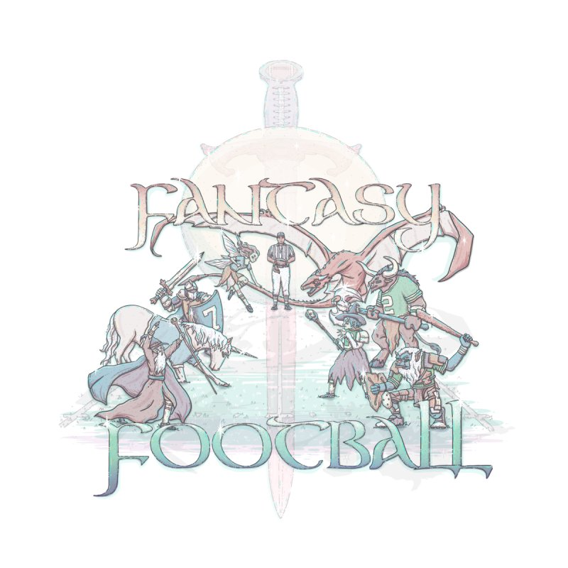 Fantasy Football Men's V-Neck by Taylor Rose Makes Art