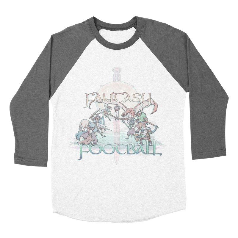 Fantasy Football Men's Baseball Triblend T-Shirt by Taylor Rose Makes Art