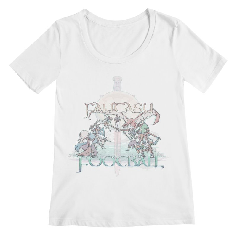 Fantasy Football Women's Scoopneck by Taylor Rose Makes Art