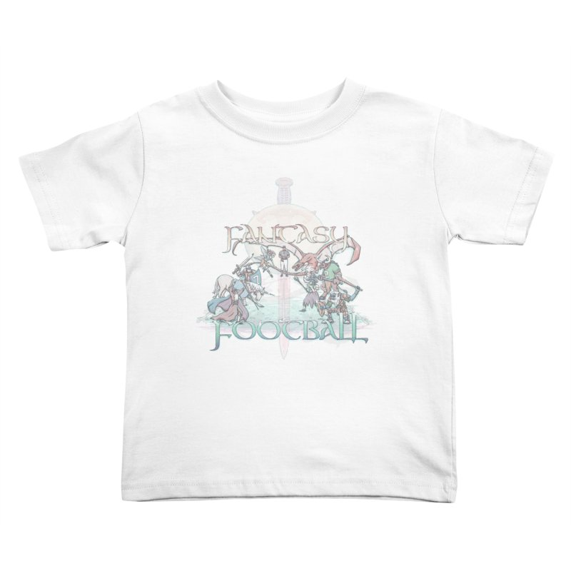 Fantasy Football Kids Toddler T-Shirt by Taylor Rose Makes Art