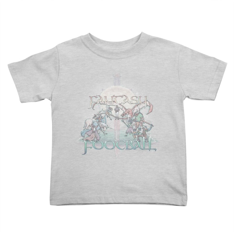 Fantasy Football Kids Toddler T-Shirt by Taylor Rose Makes Art