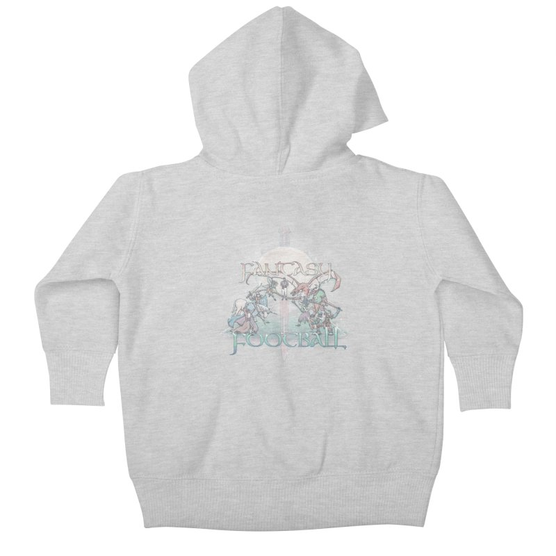Fantasy Football Kids Baby Zip-Up Hoody by Taylor Rose Makes Art
