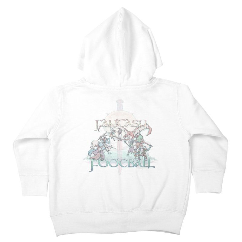 Fantasy Football Kids Toddler Zip-Up Hoody by Taylor Rose Makes Art