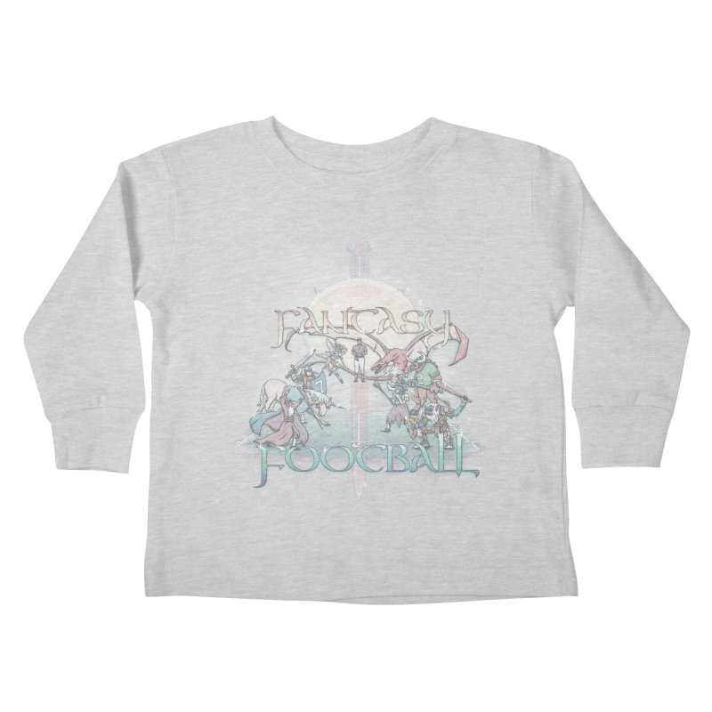Fantasy Football Kids Toddler Longsleeve T-Shirt by Taylor Rose Makes Art