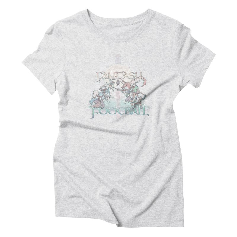 Fantasy Football Women's Triblend T-Shirt by Taylor Rose Makes Art