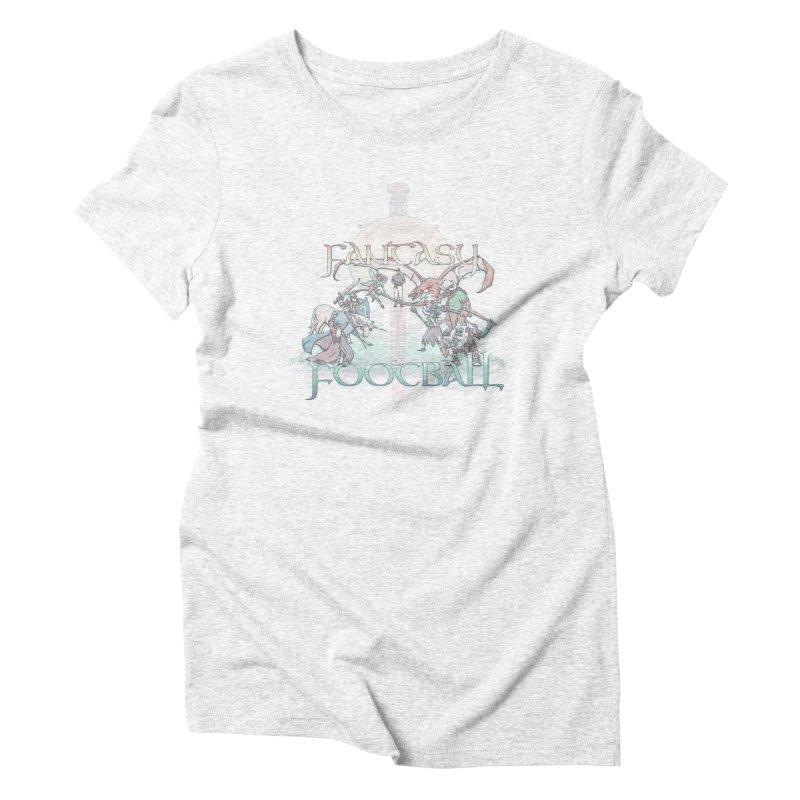 Fantasy Football Women's Triblend T-shirt by Taylor Rose Makes Art