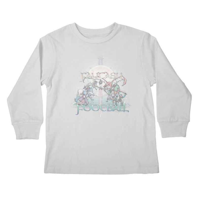 Fantasy Football Kids Longsleeve T-Shirt by Taylor Rose Makes Art