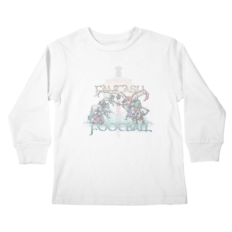 Fantasy Football Kids Longsleeve T-Shirt by Taylor Rose Makes Art