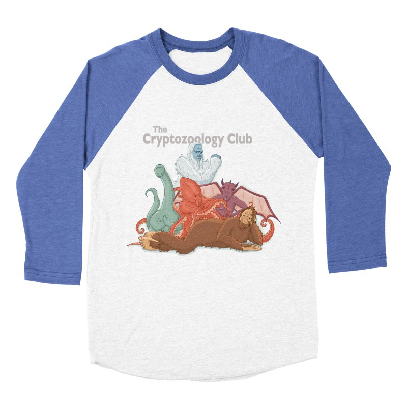 The Cryptozoology Club Women's Baseball Triblend T-Shirt by Taylor Rose Makes Art