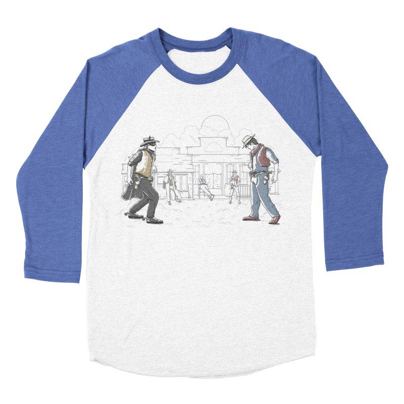 DC Showdown Men's Baseball Triblend T-Shirt by Taylor Rose Makes Art