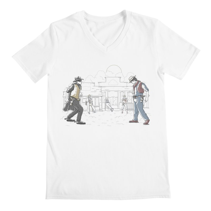 DC Showdown Men's V-Neck by Taylor Rose Makes Art