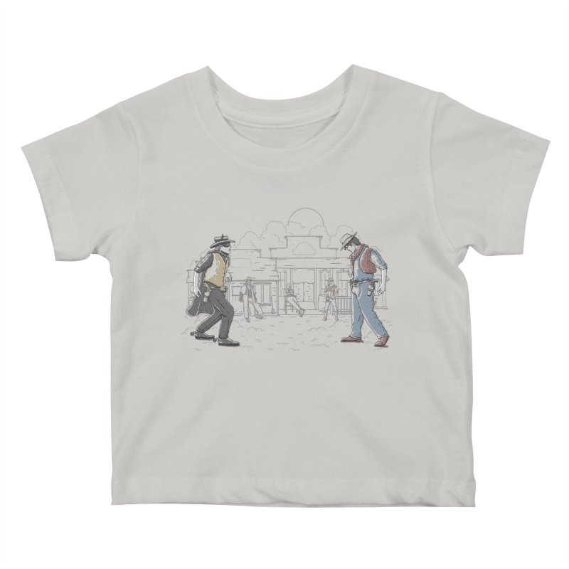 DC Showdown Kids Baby T-Shirt by Taylor Rose Makes Art
