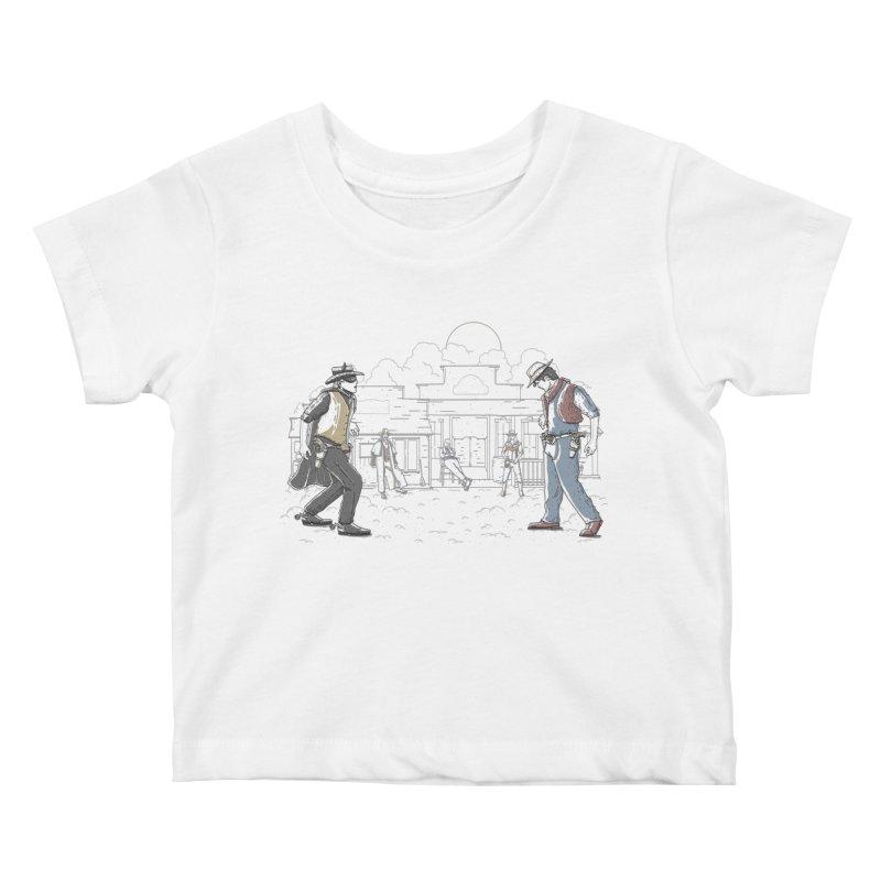 DC Showdown Kids Baby T-Shirt by Taylor Rose Makes Art