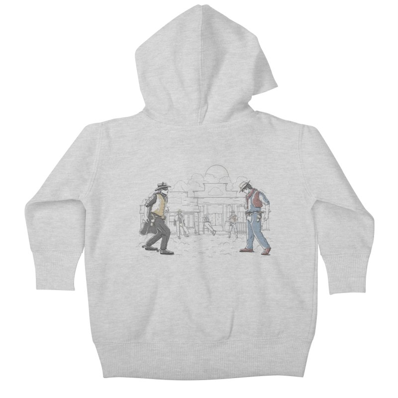 DC Showdown Kids Baby Zip-Up Hoody by Taylor Rose Makes Art