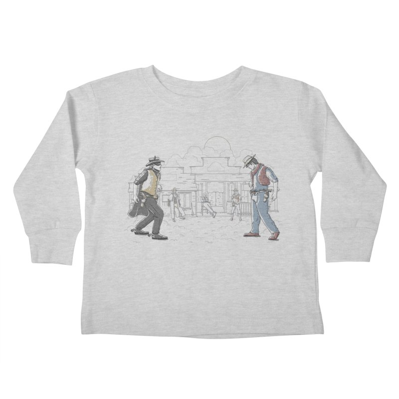 DC Showdown Kids Toddler Longsleeve T-Shirt by Taylor Rose Makes Art