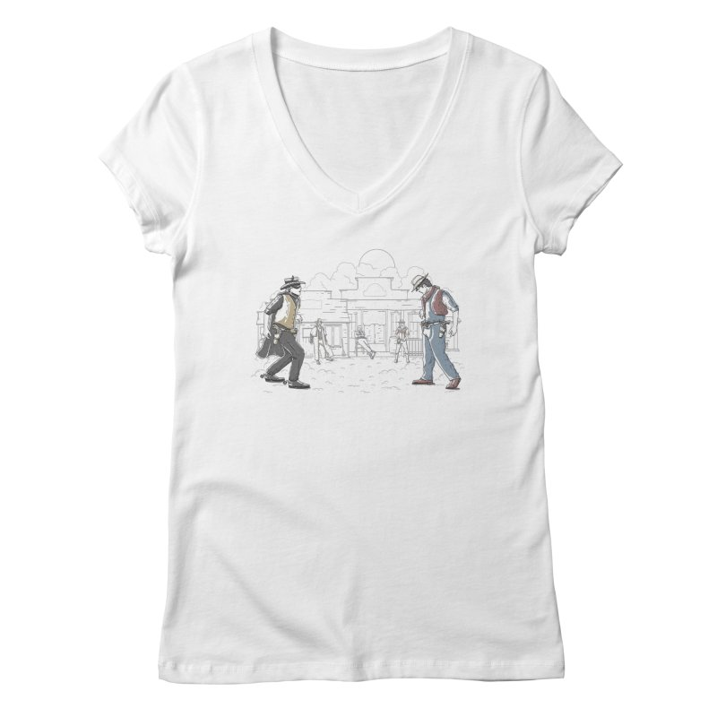 DC Showdown Women's V-Neck by Taylor Rose Makes Art