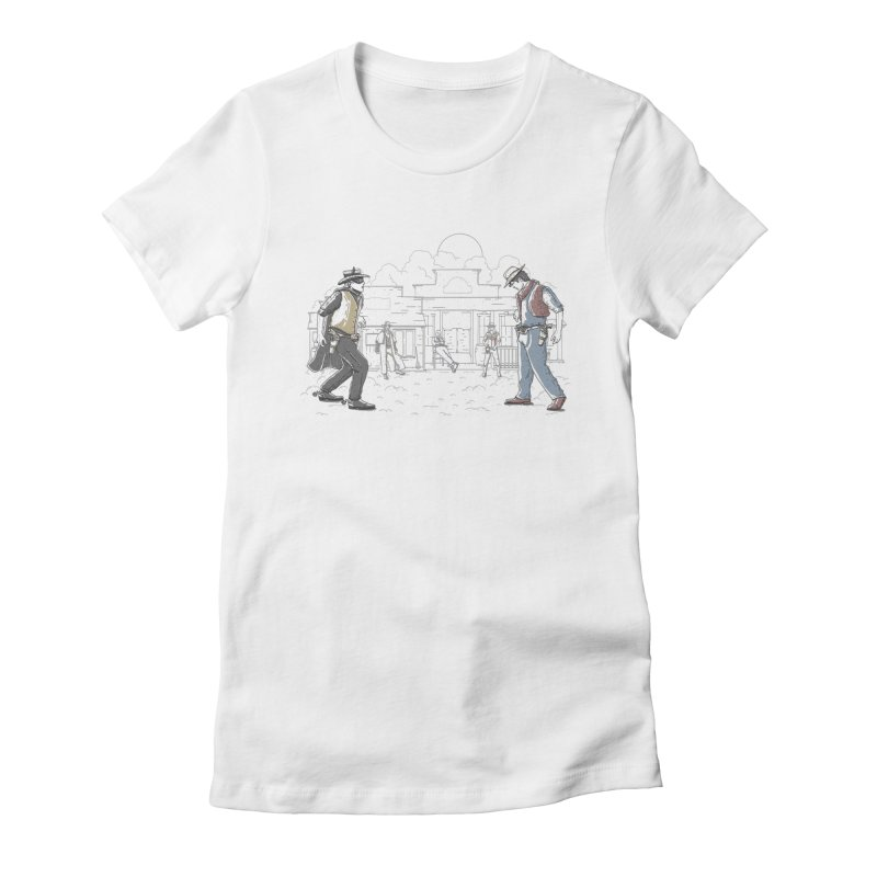 DC Showdown Women's Fitted T-Shirt by Taylor Rose Makes Art