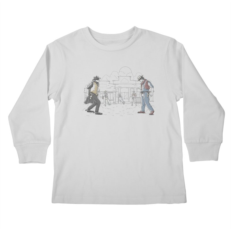 DC Showdown Kids Longsleeve T-Shirt by Taylor Rose Makes Art