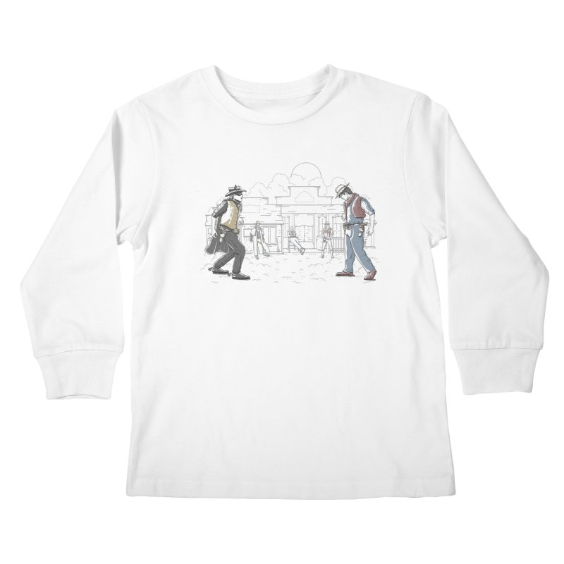 DC Showdown Kids Longsleeve T-Shirt by Taylor Rose Makes Art
