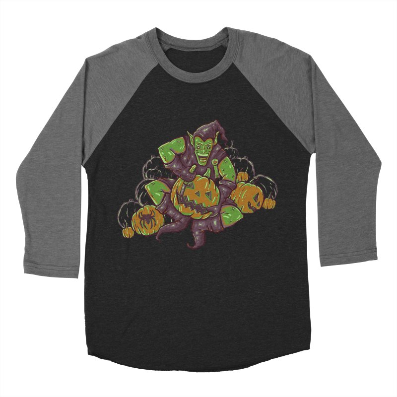 Green's Halloween Men's Baseball Triblend T-Shirt by Taylor Rose Makes Art
