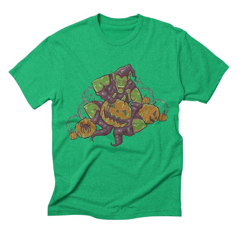 Green's Halloween Men's Triblend T-shirt by Taylor Rose Makes Art