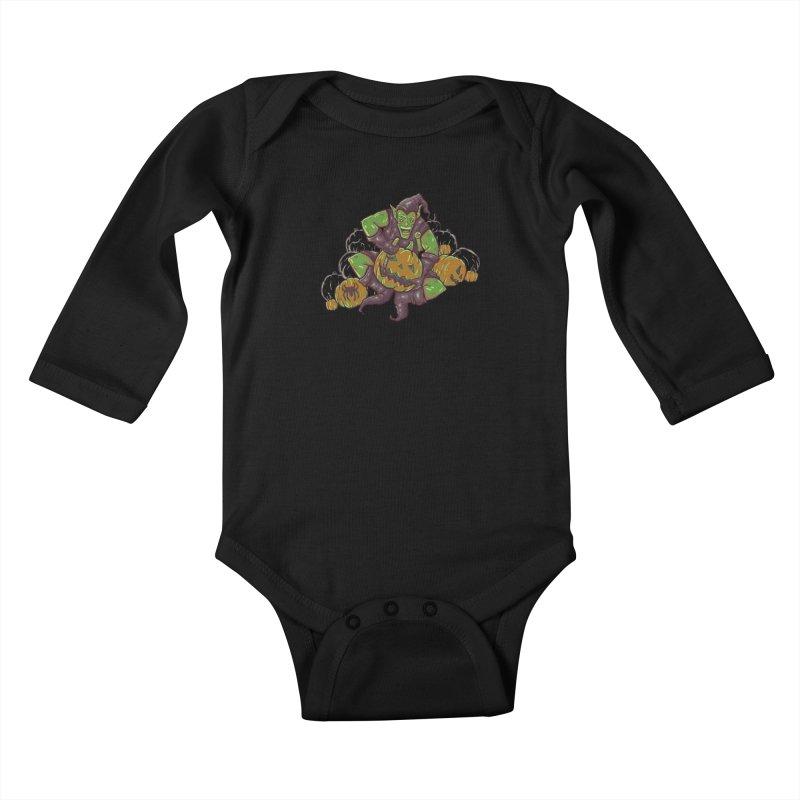 Green's Halloween Kids Baby Longsleeve Bodysuit by Taylor Rose Makes Art
