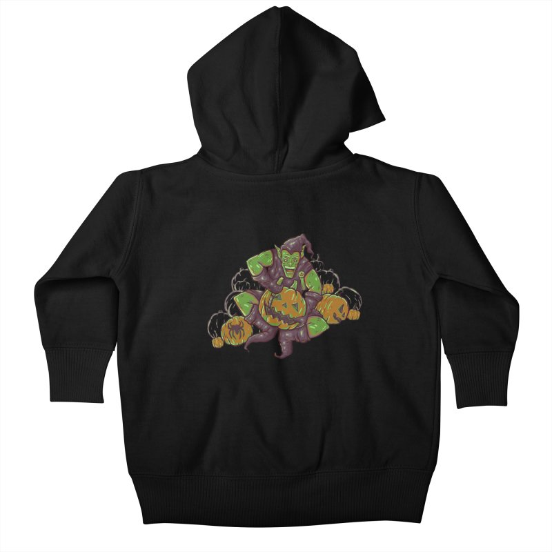 Green's Halloween Kids Baby Zip-Up Hoody by Taylor Rose Makes Art