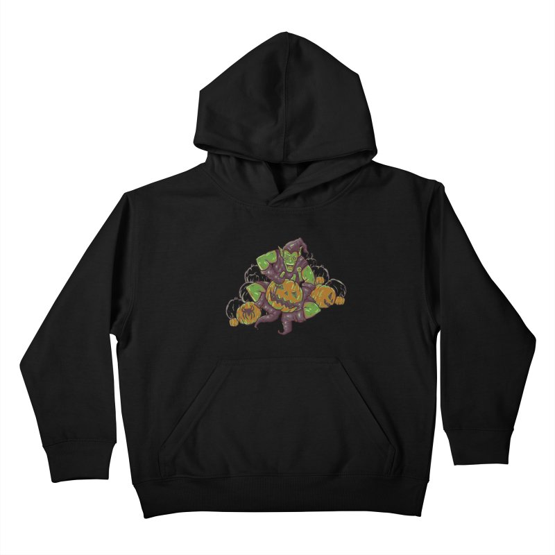 Green's Halloween Kids Pullover Hoody by Taylor Rose Makes Art