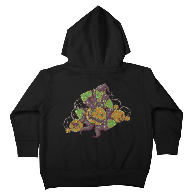 Green's Halloween Kids Toddler Zip-Up Hoody by Taylor Rose Makes Art