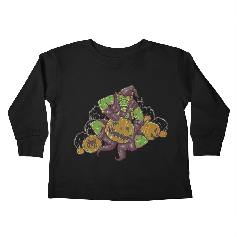 Green's Halloween Kids Toddler Longsleeve T-Shirt by Taylor Rose Makes Art
