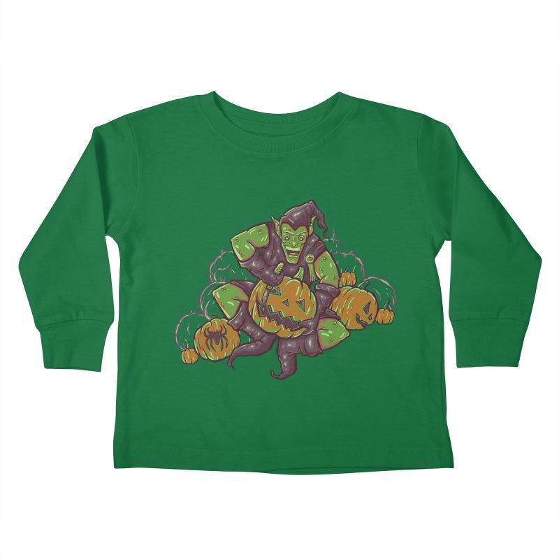 Green's Halloween Kids Toddler Longsleeve T-Shirt by Taylor Rose Makes Art