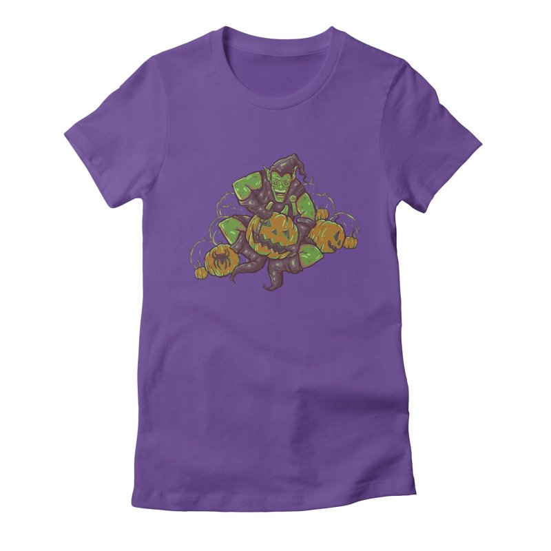 Green's Halloween Women's Fitted T-Shirt by Taylor Rose Makes Art