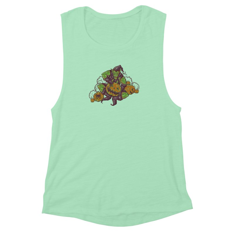 Green's Halloween Women's Muscle Tank by Taylor Rose Makes Art