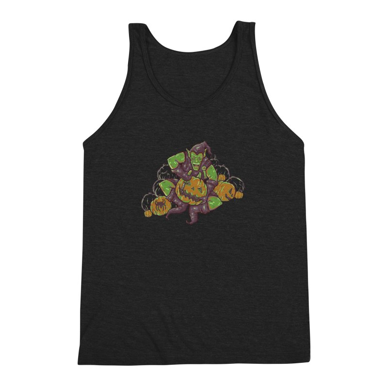 Green's Halloween Men's Triblend Tank by Taylor Rose Makes Art