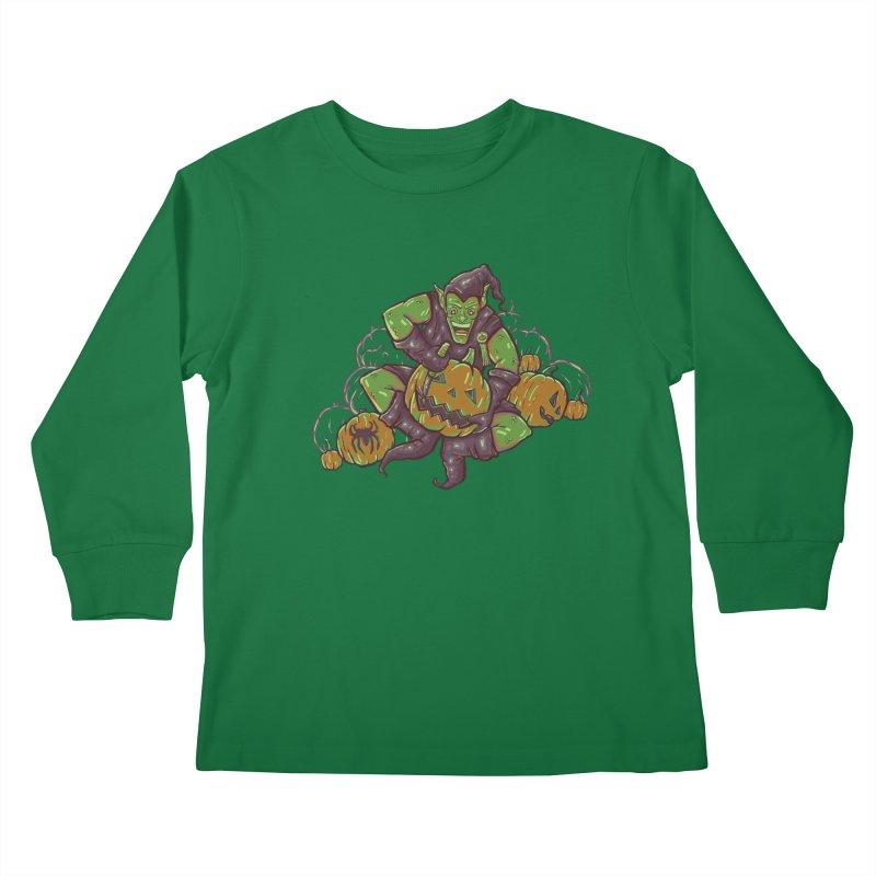 Green's Halloween Kids Longsleeve T-Shirt by Taylor Rose Makes Art