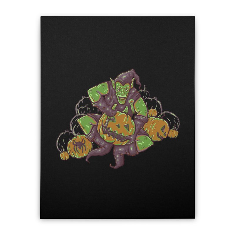 Green's Halloween Home Stretched Canvas by Taylor Rose Makes Art