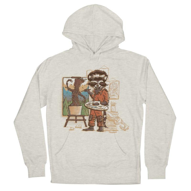 Happy Little Groots Men's Pullover Hoody by Taylor Rose Makes Art
