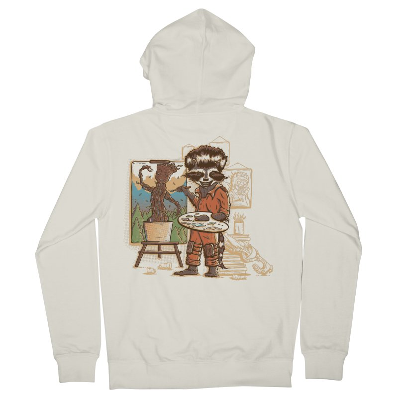 Happy Little Groots Men's Zip-Up Hoody by Taylor Rose Makes Art