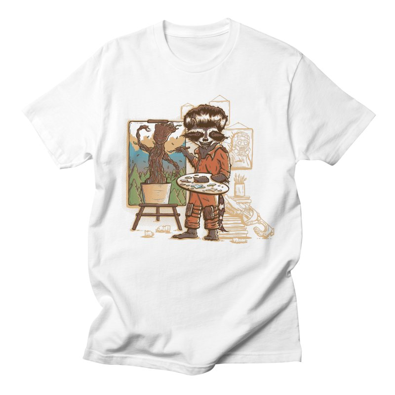 Happy Little Groots Men's T-shirt by Taylor Rose Makes Art