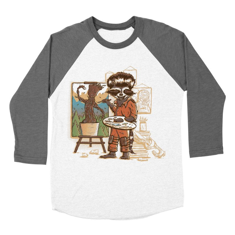 Happy Little Groots Men's Baseball Triblend T-Shirt by Taylor Rose Makes Art