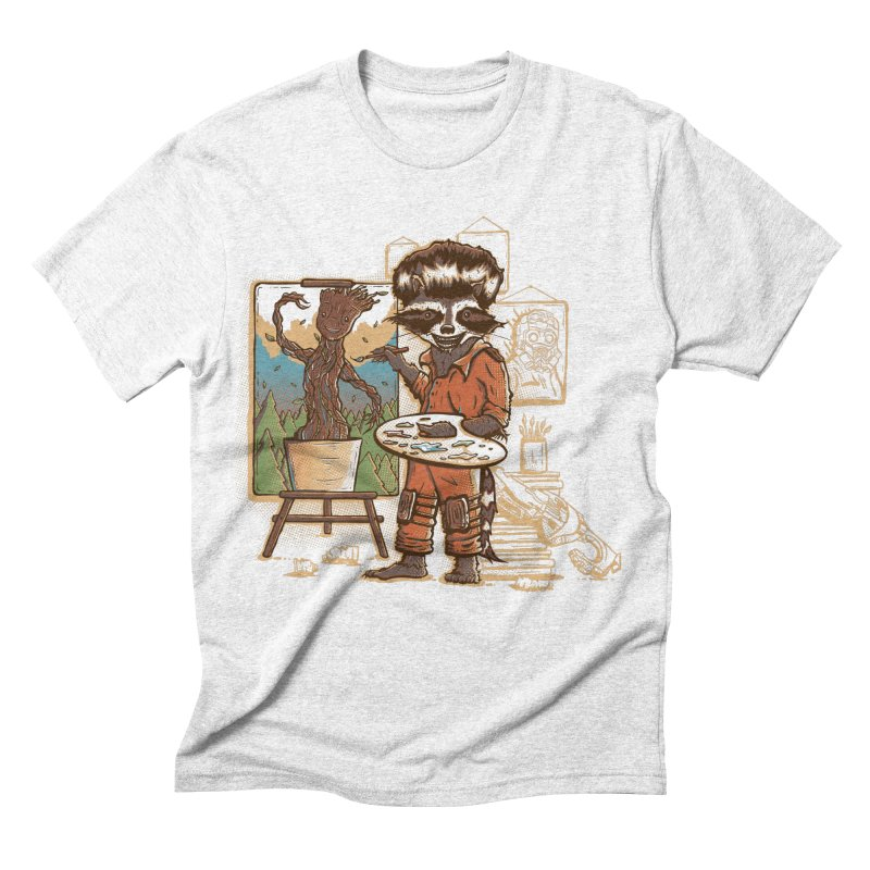 Happy Little Groots Men's Triblend T-shirt by Taylor Rose Makes Art