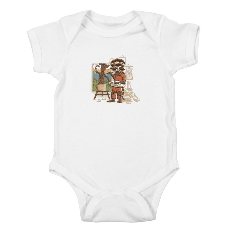 Happy Little Groots Kids Baby Bodysuit by Taylor Rose Makes Art