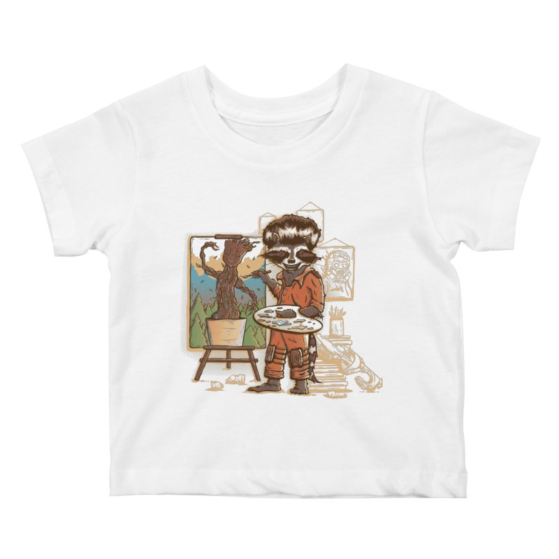 Happy Little Groots Kids Baby T-Shirt by Taylor Rose Makes Art