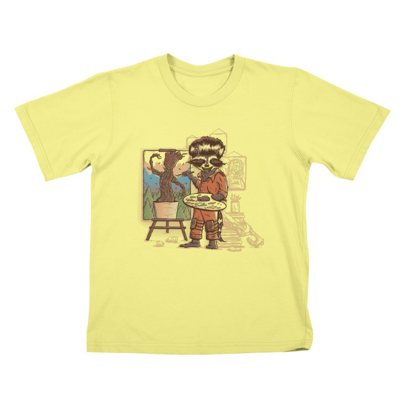 Happy Little Groots Kids T-shirt by Taylor Rose Makes Art