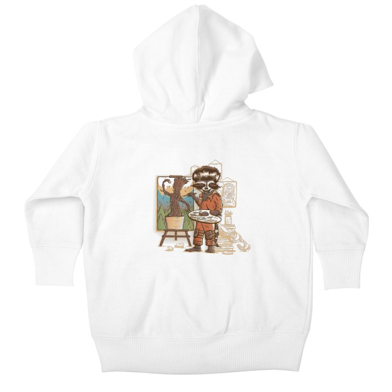 Happy Little Groots Kids Baby Zip-Up Hoody by Taylor Rose Makes Art